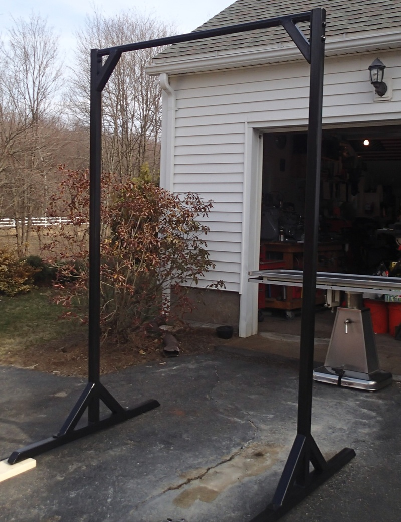 Homemade free standing pull up bar plans homemade ftempo for Homemade pull up bar plans